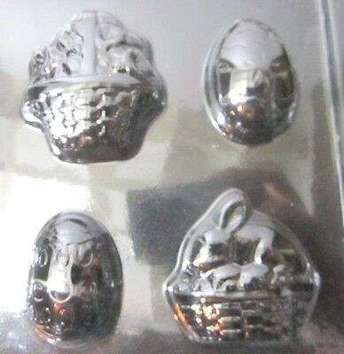 2 pack Longaberger Plastic Easter Candy Molds of Baskets Eggs Bunnies & Recipe