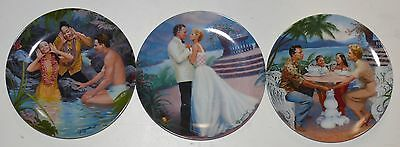 SOUTH PACIFIC by ELAINE GIGNILLIAT > SET OF THREE COLLECTOR PLATES     x3