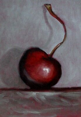 ORIGINAL  still life oil painting cherry by n, arnold
