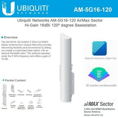 Ubiquiti AM-5G16-120 AirMax BaseStation airmax Sector Antenna.