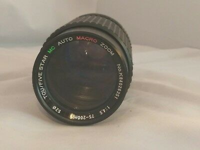 Tou / Five Star 75-200mm 4.5 MC Auto Macro Zoom Lens for Canon FD