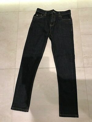 Next Boys Super Skinny Dark Blue Denim Jeans Age 12 Years. New Without Tags.