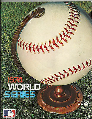 1974 World Series Program Los Angeles Dodgers Vs Oakland A's  Must See