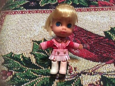 Vintage 1965 Mattel Liddle Kiddle Calamity Jiddle Doll, Outfit, & Boots!