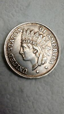 1851 Indian head silver dollar coin