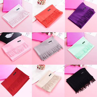 **Women Long Scarf Shawl Pashmina Cashmere Plain Colours Cotton Cosy All Colours