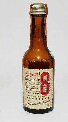 Miniature Whiskey Bottle Gibsons Diamond 8