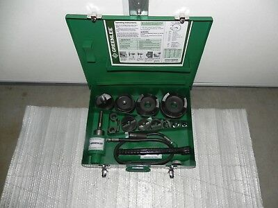 "Greenlee 7310SB Slug Buster Knockout Punch Set for 1/2"" THR 4"",767,746,7304 NICE"