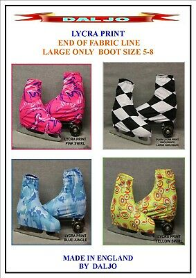 Ice Skating / Roller Skating  Lycra Print Boot Covers Large Only Fabric End No2