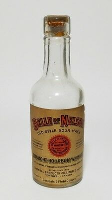 Miniature Whiskey Bottle Belle of Nelson