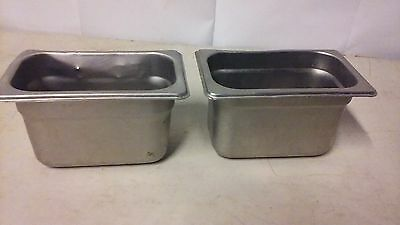1/9 SIZE RESTAURANT STEAM TABLE PAN STAINLESS STEEL (sold individually)