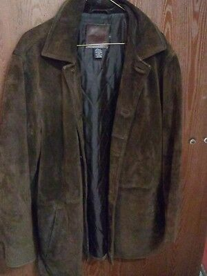 J Crew Mens Suede Leather Jacket Small  Fits as medium