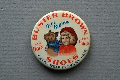 Beautiful, vintage Buster Brown Shoes advertising clicker