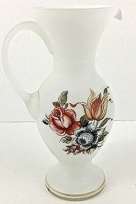 VINTAGE Hand Painted ITALY ITALIAN ART POTTERY PITCHER WINE DECANTER VASE