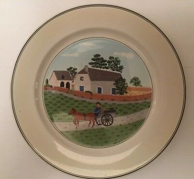 Villeroy & Boch Design Naif Dinner Plate Country Scenes GOING TO MARKET #1