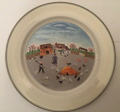 Villeroy & Boch Design Naif Dinner Plate Country Scenes COUNTRY YARD #3