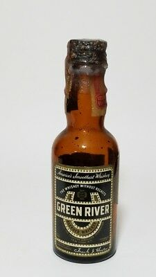 Miniature Whiskey Bottle Green River
