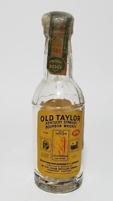 Miniature Whiskey Bottle Old Taylor