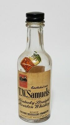 Miniature Whiskey Bottle T.W. Samuels