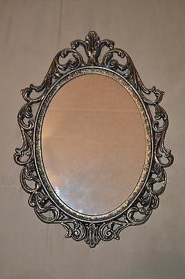 10 x7 Vintage Victorian Ornate Antique Brass Cast Metal 5 x 7 Wall Picture Frame
