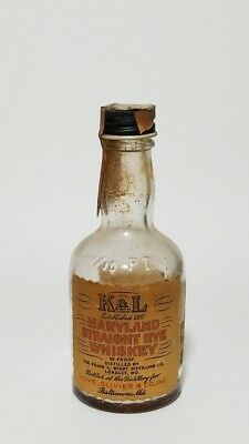 Miniature Whiskey Bottle K & L Maryland Rye