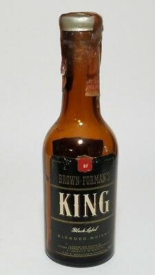 Miniature Whiskey Bottle Brown Forman's King Black Label