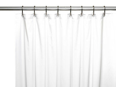 HOTEL Collection Extra Heavy Weight Vinyl Shower Curtain Liner In Bone