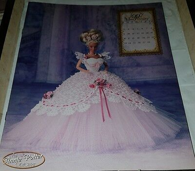 Jn008 Annie Potter's 1997 The Royal Ballgowns, Miss February  ~ Crochet Pattern