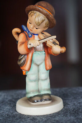 "Goebel Hummel Little Fiddler 5"" boy with violin Figurine signed W Germany"