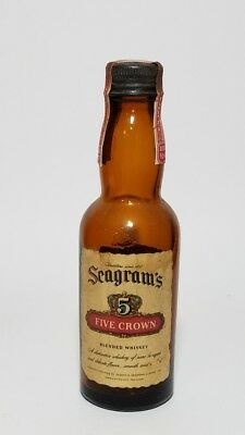 Miniature Whiskey Bottle Seagrams 5 Crown