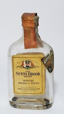 Miniature Whiskey Bottle Flask Old Sunny Brook