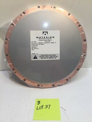 """MATERION Microelectronics 10"""" dia. Sputter/Sputtering PLATE,TARGET w/ Box"""