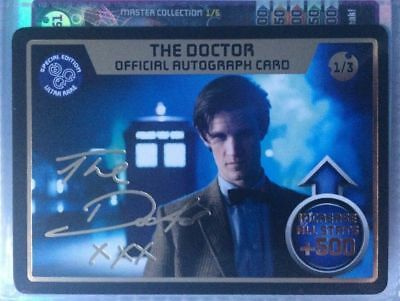 Monster Invasion Extreme Autograph Card 1/3 The Doctor B.B.C.MAGAZINE 2012