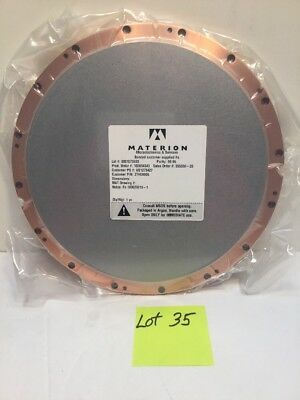 """MATERION Microelectronics 10"""" Fe(Iron) SPUTTER PLATE,TARGET w/ Box"""