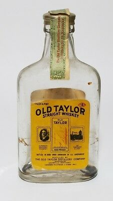 Miniature Whiskey Bottle Flask Old Taylor 1935