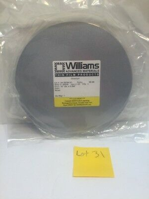 """WILLIAMS Thin Film Products 10"""" dia. x 0.250"""" Chromium SPUTTER PLATE,TARGET"""