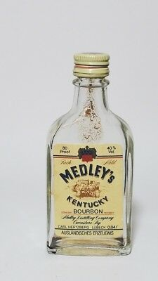 Miniature Whiskey Bottle Medley's Kentucky Bourbon