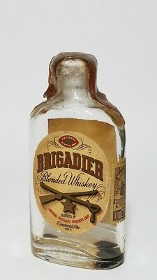 Miniature Whiskey Bottle Flask Brigadier