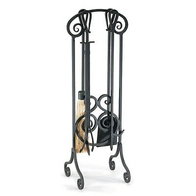 Pilgrim Home and Hearth 19002 Napa Forge Antique Scroll Fireplace Tool Set, B...