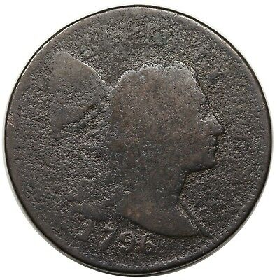 1796 Liberty Cap Large Cent, rare S-82, R.5, G detail