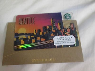 "New 2017 STARBUCKS Seattle City ""Gift Card"""