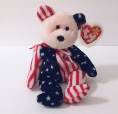 Ty Beanie Baby Retired 1999 Spangle Pink Face Bear Retired