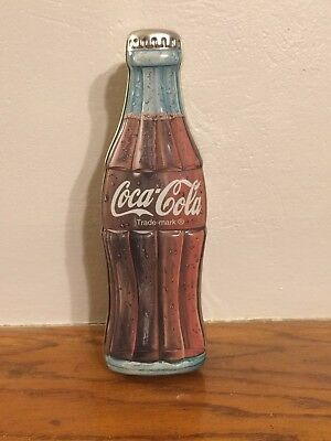 Coca-cola Bottle Shaped Tin Trade-Mark 1996 Excellent Condition