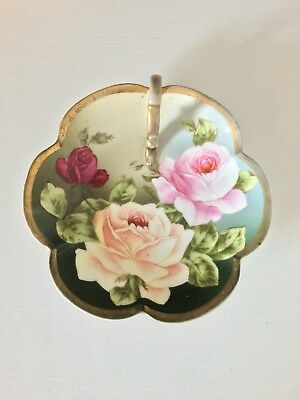 Antique Royal Munich Z.S.&Co. Bavaria Hand Painted Roses Signed Langlet.
