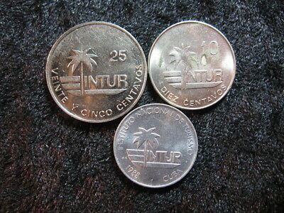 3 old world foreign coin lot INTUR assorted centavos 5, 10, 25 FREE S&H