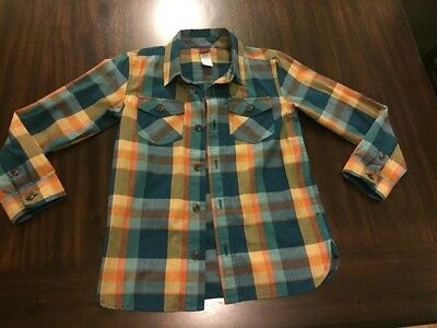 Tea Collection Boy Size 6 Plaid Button up Shirt