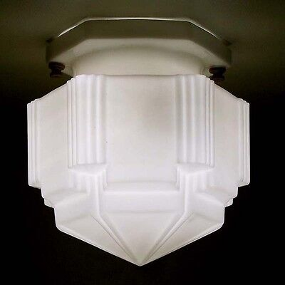 642 Vintage 30's 40's aRT Deco SKYSCRAPER Ceiling Light  Fixture Industrial