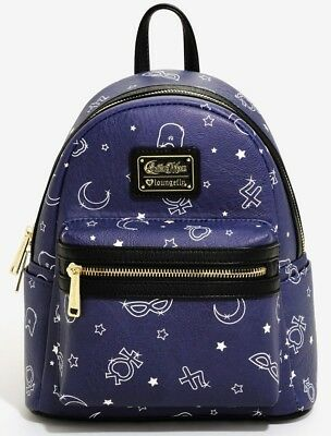 Sailor Moon Allover Print Mini Backpack Loungefly New with Tags