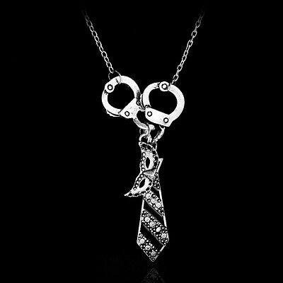 Fifty Shades Of Grey Darker Handcuffs Masquerade Mask Tie Necklace Jewelry Gift