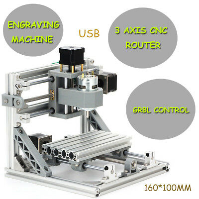 MINI 3Axis CNC ROUTER 1610 +500mw Laser PVC PCB Engraving Milling Machine Router